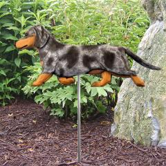 Dachshund (Blue Dapple) Dog Garden Stake