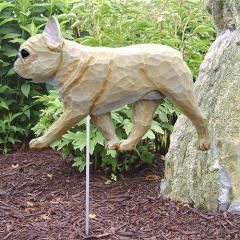 French Bulldog Dog Garden Stake