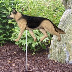 German Shepherd Dog Garden Stake