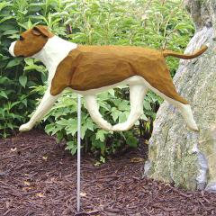 AmStaff Terrier (Natural) Dog Garden Stake