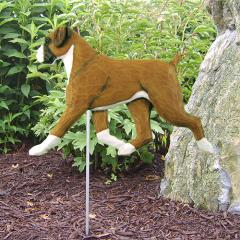 Boxer, Natural - Dog Garden Stake