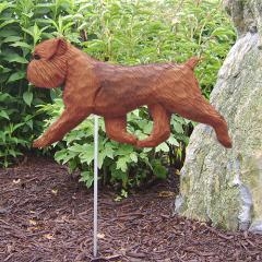 Brussels Griffon, Natural - Dog Garden Stake