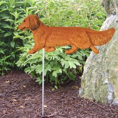 Dachshund, Long Hair - Dog Garden Stake