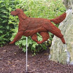 Irish Setter Dog Garden Stake