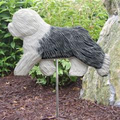 Old English Sheepdog Dog Garden Stake