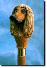 Afghan Hound Dog Breed Walking Stick