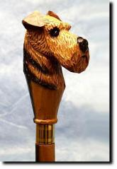 Airedale Terrier  Dog Breed Walking Stick