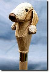 Bedlington Terrier  Dog Breed Walking Stick