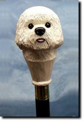 Bichon Frise Dog Breed Walking Stick