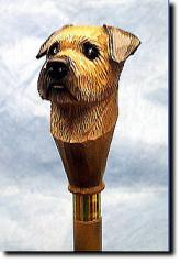 Border Terrier Dog Breed Walking Stick