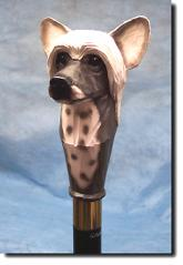 Chinese Crested Dog Breed Walking Stick