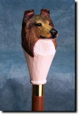 Collie (Rough) Dog Breed Walking Stick