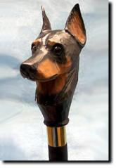 Doberman Pinscher Dog Breed Walking Stick
