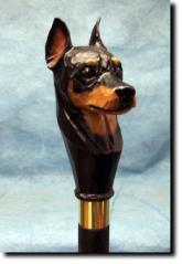 Miniature Pinscher Dog Breed Walking Stick