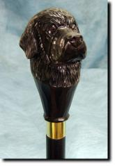 Newfoundland Dog Breed Walking Stick