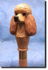 Poodle Dog Breed Walking Stick