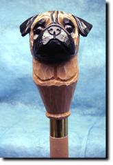 Pug Dog Breed Walking Stick