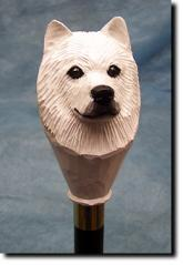 Samoyed Dog Breed Walking Stick