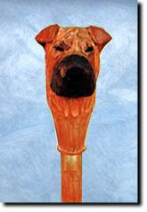 Shar Pei Dog Breed Walking Stick