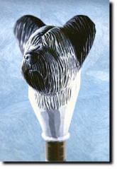 Skye Terrier Dog Breed Walking Stick