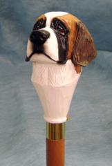 Saint Bernard Dog Breed Walking Stick