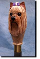 Yorkshire Terrier Dog Breed Walking Stick