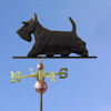 Scottish Terrier Dog Weathervane shown in Black
