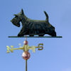 Scottish Terrier Dog Weathervane shown in Black Brindle